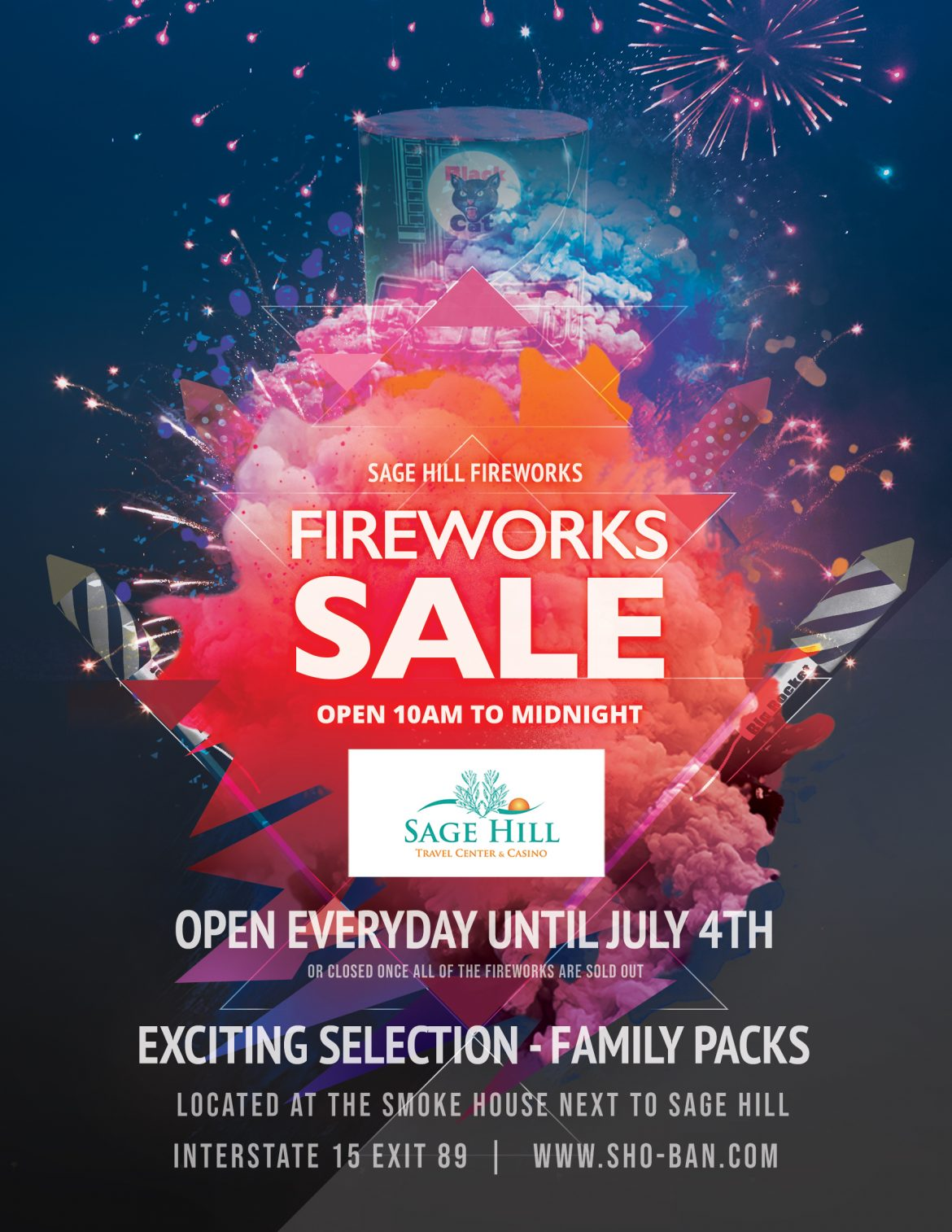 Sage Hill Fireworks Sale